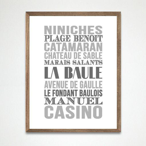 Affiche Bord de mer «La Baule»