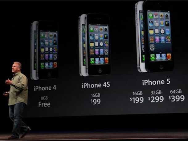 Apple prices the iPhone 5 same as 4S: $199 for 16GB | Apple - CNET News