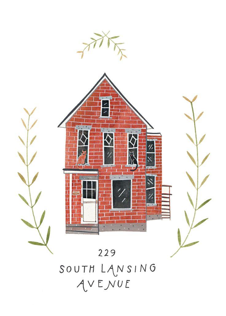 House illustration | by Rebekka Mann Seale