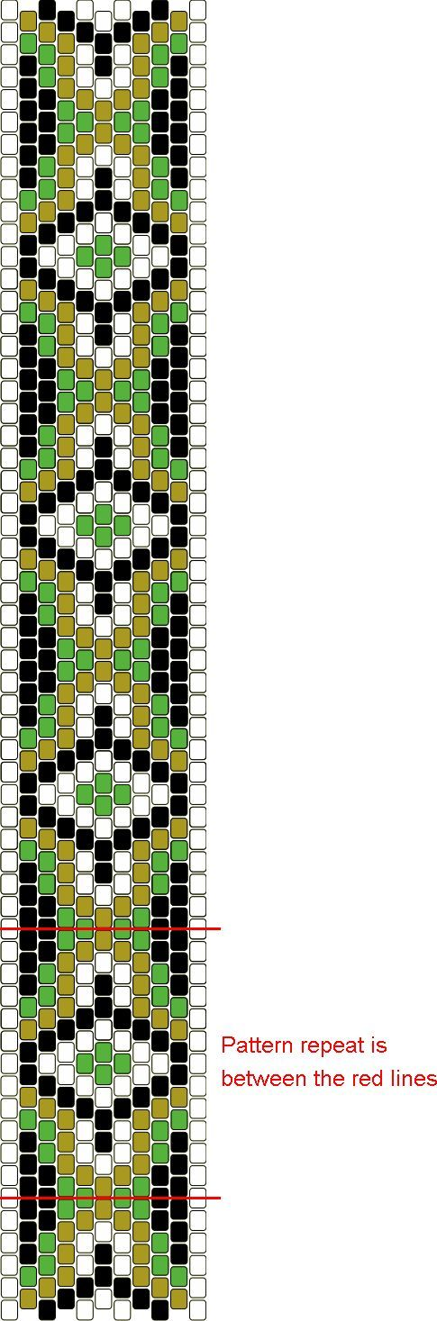 Free Bead Patterns and Ideas : Peyote Beaded Graph Pattern - Free Pattern