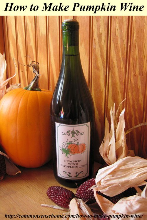 How to make pumpkin wine. Classic spices and a little creativity come together in an usual pumpkin recipe that's sure to be a conversation starter.