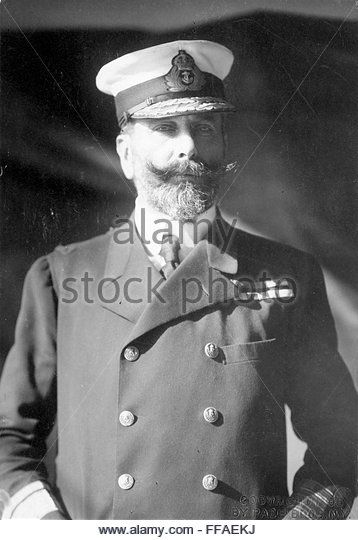 PRINCE LOUIS OF BATTENBERG /n(1854-1921). English (German born) naval officer, First Sea Lord, 1912-14. - Stock Image