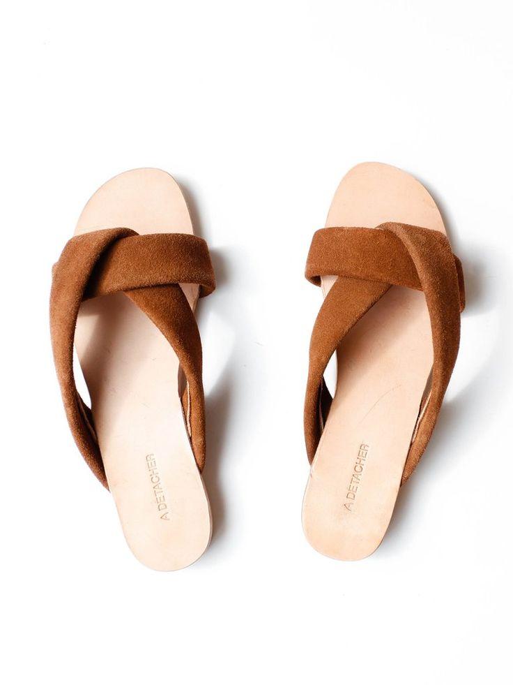 A Détacher - Pipit Sandals - Tobacco Suede