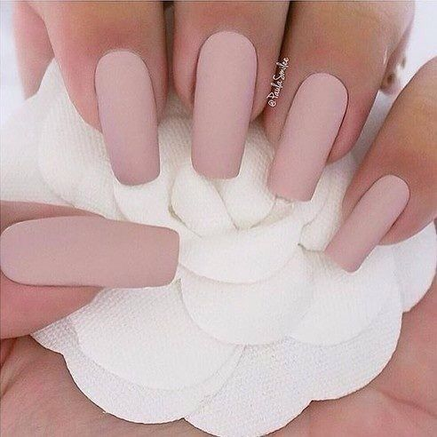 I love this matte pink nail shade - 25+ Best Soft Pink Nails Ideas On Pinterest Light Pink Nails