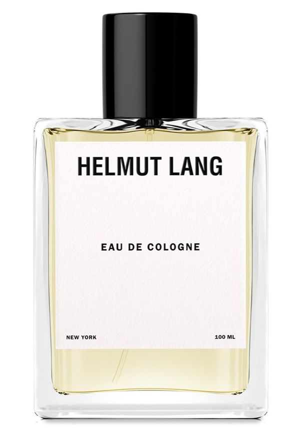 Eau de Cologne  Eau de Toilette by  Helmut Lang Eau de Cologne Notes lavender, rosemary, artemisia, orange tree notes, jasmine, rose, heliotrope, lily of the valley, cedarwood, sandalwood, vanilla, patchouli, skin accord, musk and amber