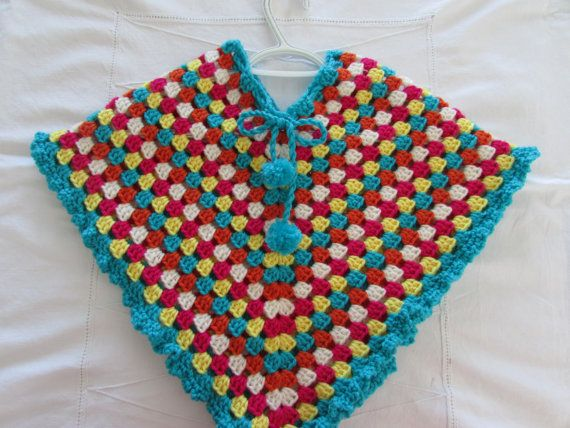 Check out this item in my Etsy shop https://www.etsy.com/listing/224023974/colorful-crocheted-poncho-girls-poncho