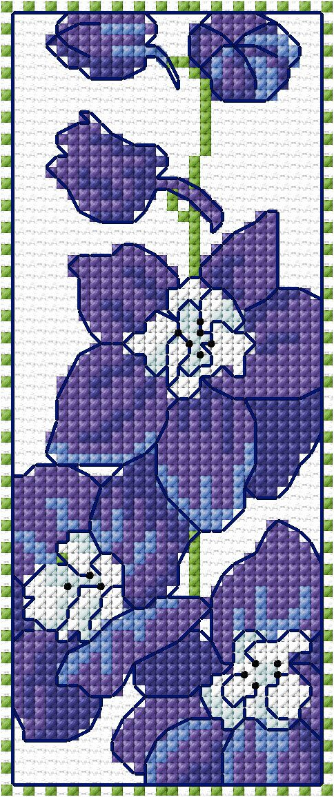 Delphinium Band, designed by Lesley Teare, from he blog.