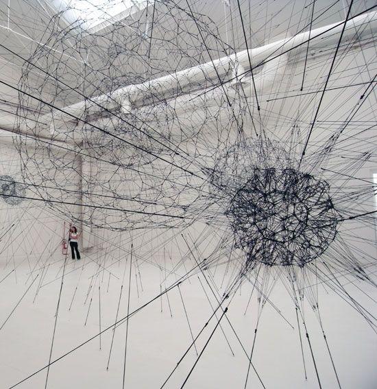 Tomas Saraceno - 'galaxies forming along filaments, like droplets along the strands of a spider's web'