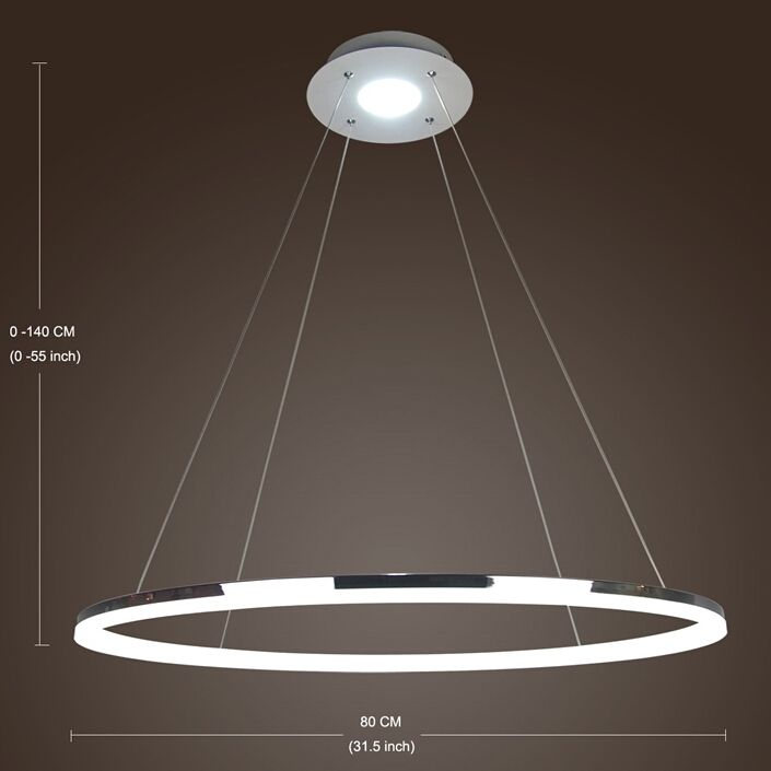 Modern Led Acrylic Pendant Light Living Led Ring Lights Ceiling Lights 80cm Angel S Halo Ceiling Lights Led Ring Pendant Light