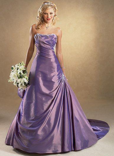 Beautiful Purple Wedding Gown