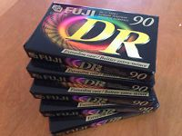 Up for auction is a lot of 5 sealed Fuji DR Normal Bias type 1 90min Blank Cassette Tapes. There are 5 90 Minute cassettes. These babies are getting harder and harder  to find.