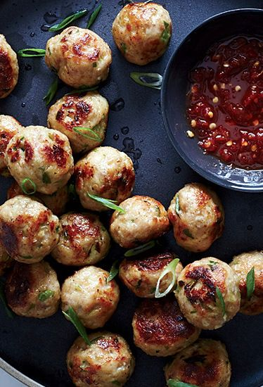 Sesame-Ginger Chicken Meatballs - these could be modified for baby and sesame is high in calcium.