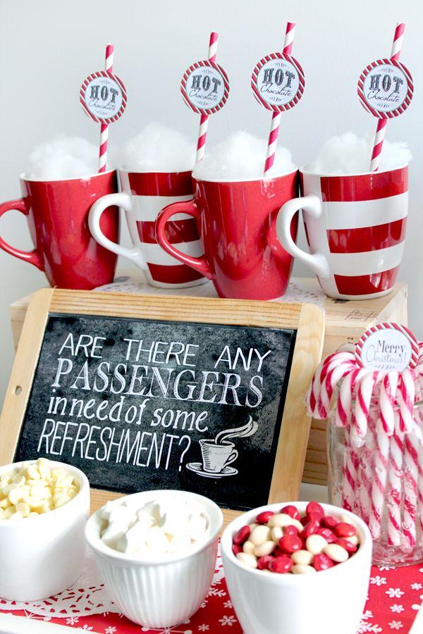 Polar Express Refreshments Chalkboard Poster - Sassaby Parties