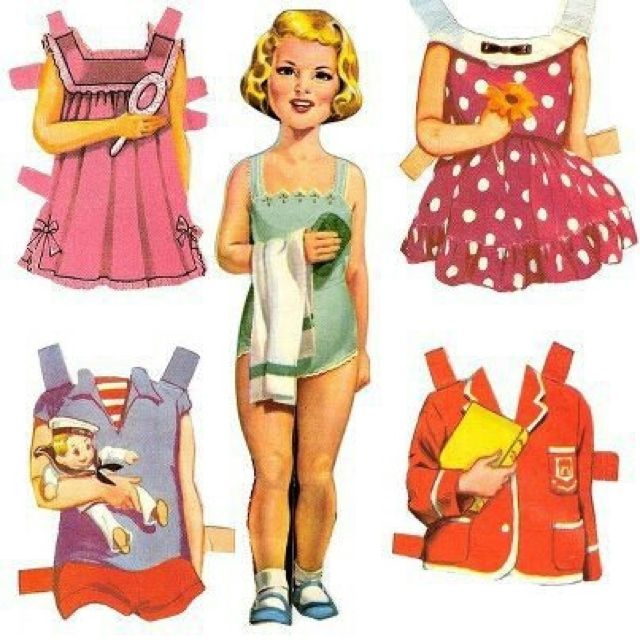 Remember paper dolls?