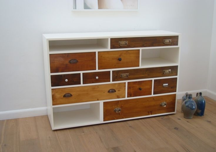 Kommode mit alten und neuen Elementen // Chest of drawers with new and old elements by old-new-style via DaWanda.com