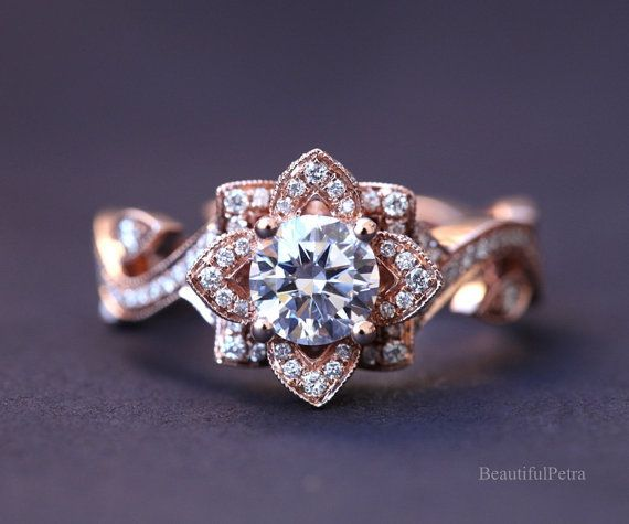 17 Best ideas about Lotus Engagement Ring on Pinterest | Design your engagement  ring, Beautiful rings and Design your own ring