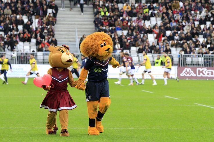 Lors du match UBB - Toulon le 14 février au Matmut Atlantique, Léo a trouvé sa Valentine : Léa !