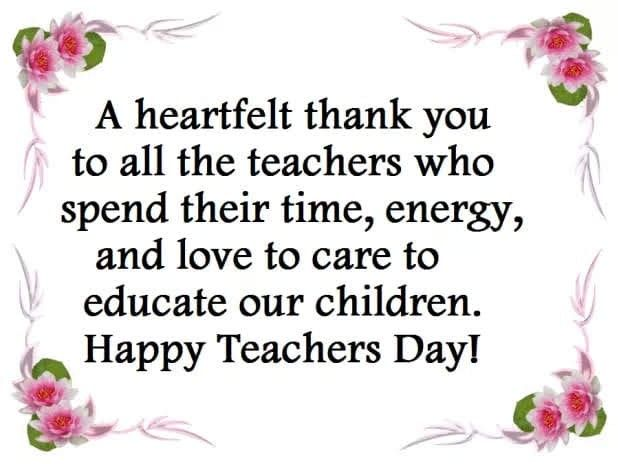Pin By Desmarie Bowen On Very Good In 2020 Happy Teachers Day Message Happy Teachers Day Teachers Day Wishes