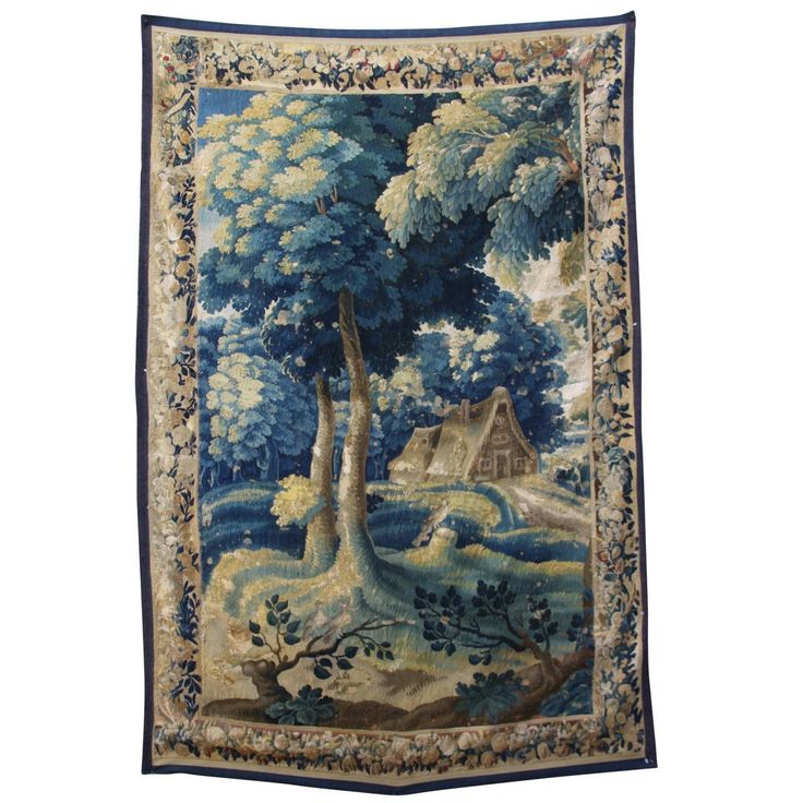 18th Century Verdure Flemish Tapestry | From a unique collection of antique and modern tapestries at https://www.1stdibs.com/furniture/wall-decorations/tapestry/