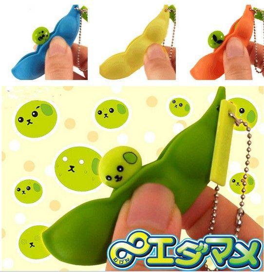wholesales 30s/lot 7cm Kawaii Edamame Mameshiba Soybean squishy Cell Phone Charm/bag charm /squishy buns free shipping-in Mobile Phone Straps from Phones  Telecommunications on Aliexpress.com $29.99