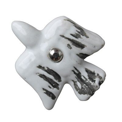 Drawer Knobs - Rustic White Bird | Pony Lane