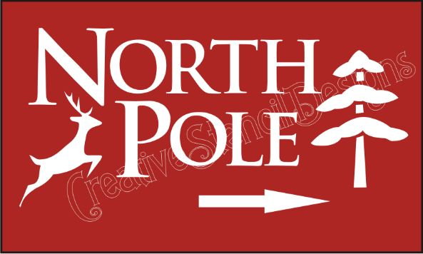 Christmas Crafts North Pole Signs