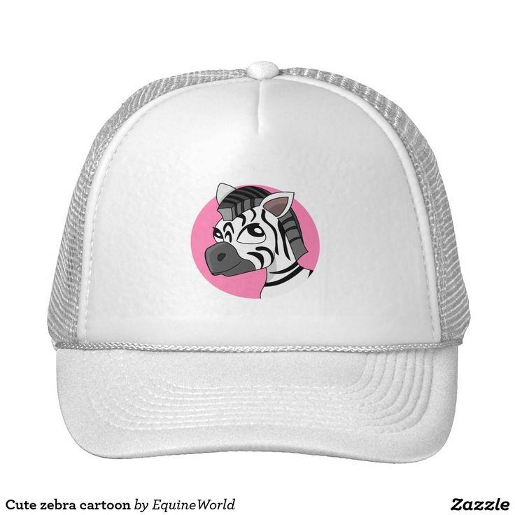Cute zebra cartoon trucker hat