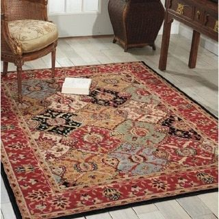 Nourison Modesto Multicolor Traditional Area Rug (7'10 x 10'6) - 15646649 - Overstock - Great Deals on 7x9 - 10x14 Rugs - Mobile