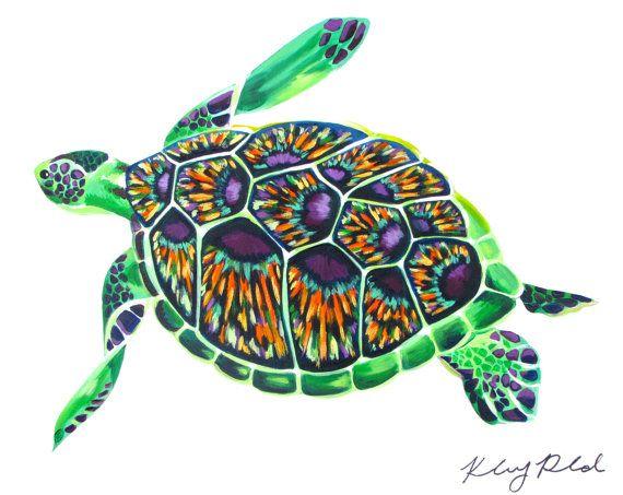80 best createdbykelseyart images on pinterest acrylic for Turtle fish paint