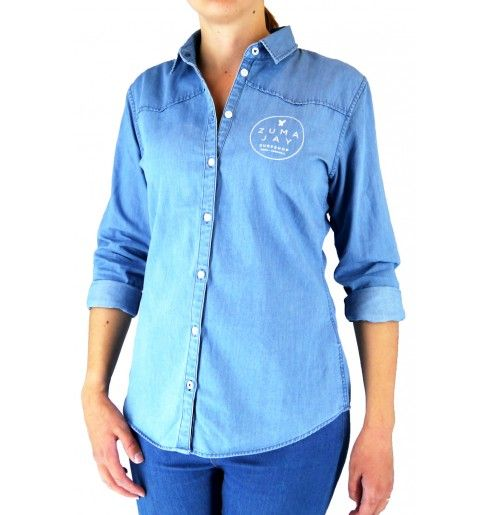 Zuma Jay Ladies Print Shirt Denim