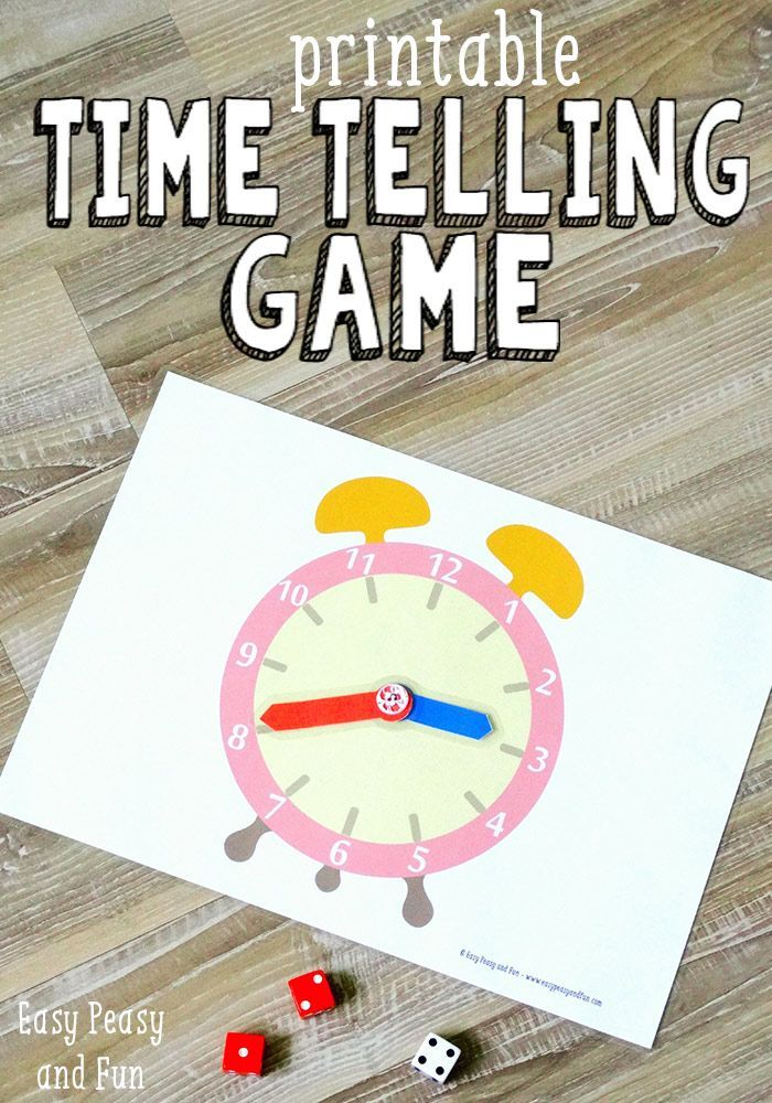 Printable Time Telling Game - Easy Peasy and Fun