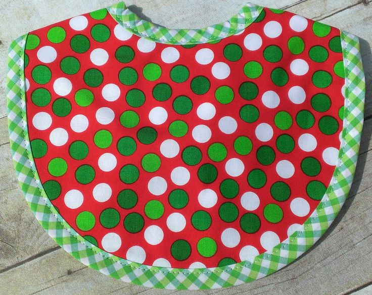Polka Dots Christmas Bib by 3 Marthas