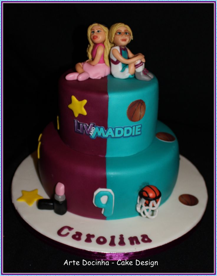 Liv and Maddie cake