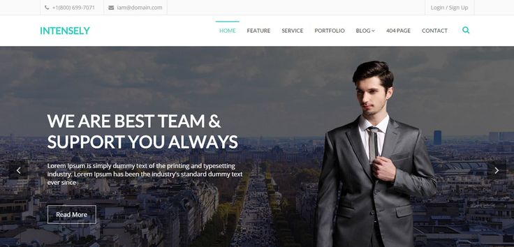 Intensely – Free Bootstrap Corporate Business Website Template