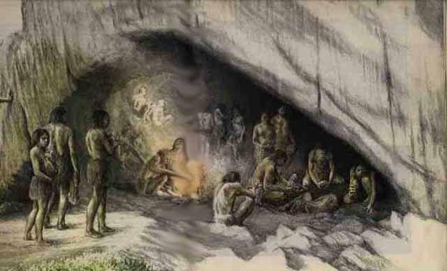 Неандертальцы - жизнь в пещере