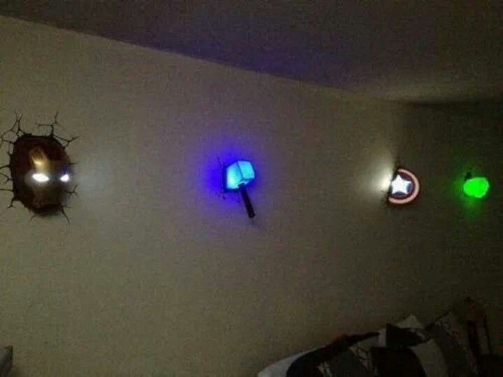 The avengers a little comic book themed home decor these would probably be in either tyler 39 s - Avenger nightlights ...