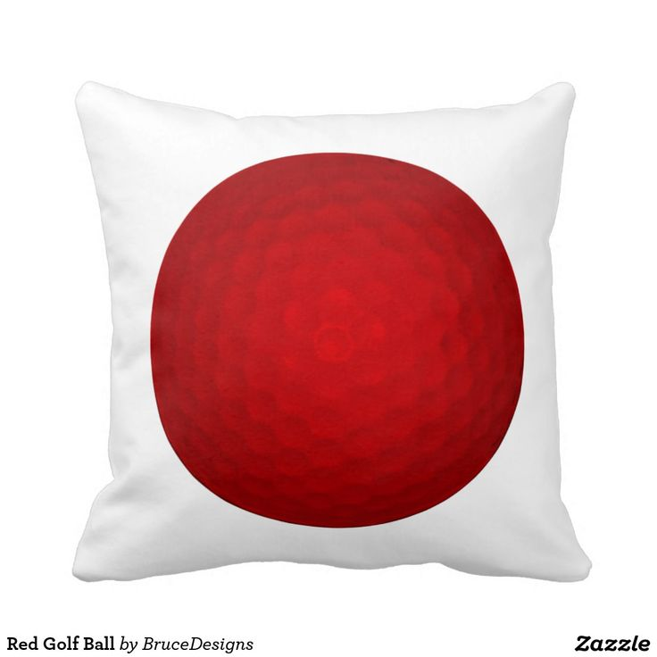red golf throw pillow google search