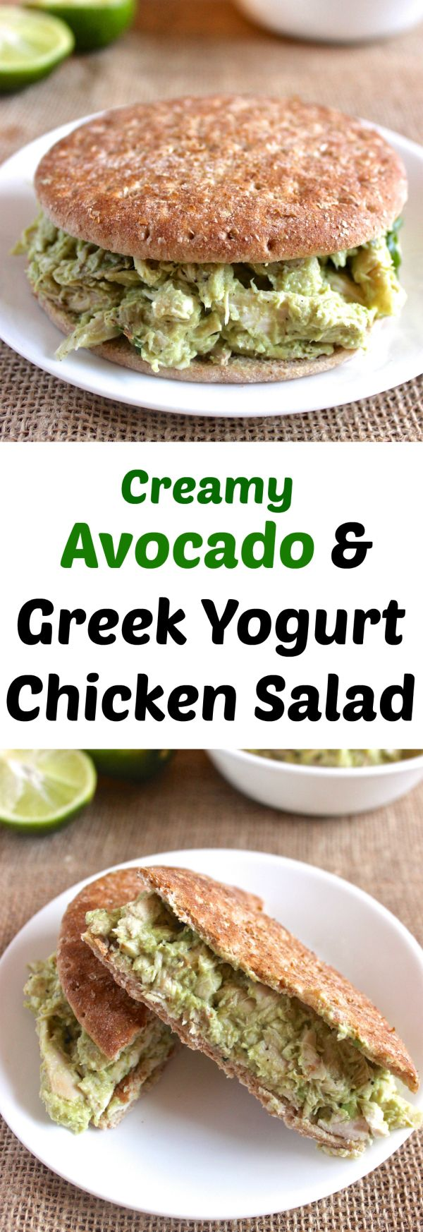 Healthy Chicken Salad made w/ NO mayo! // healthy-liv.com