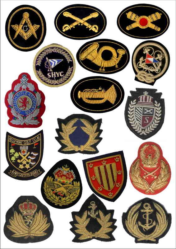 y hand embroidered bullion blazer crest and badges. -Made of Finest quality  Gold or