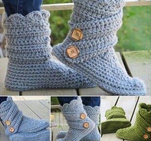 tricoter-pantoufles