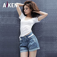 Retro lace high quality very good lumbar micro-bombs Joker jeans