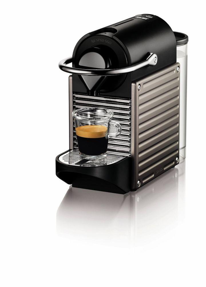 Nespresso Pixie Espresso Machine Coffee Maker Titan Free Shipping  #Nespresso #EspressoMachine