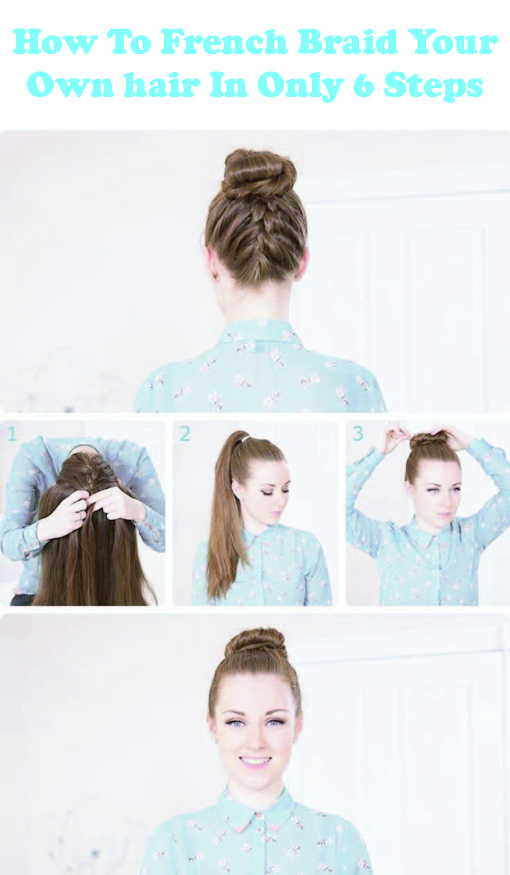 FancyFrench braids? Want  to knowhow to french braidyourhair? French braids are very easy  to do on someone else's hair but can be tricky when an attempt to do on your  own because you won't be able to see anything, so it is a bit tricky. French braids tutorial, French braids step by step, French braids short hair, French braids black hair.