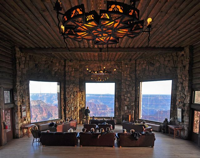 Grand Canyon Lodge, North Rim  Like the Disney Wilderness Lodge....but real.