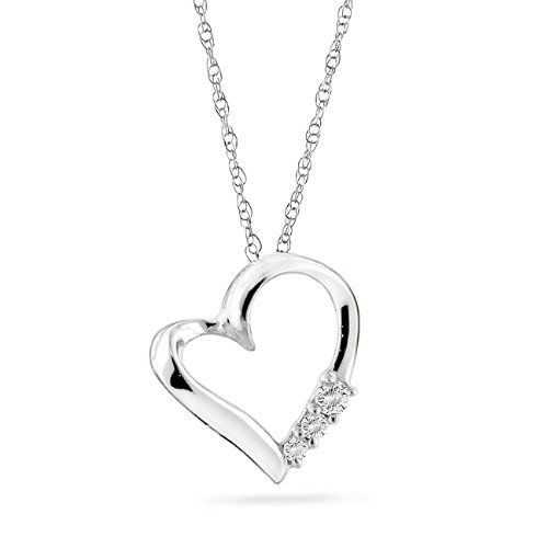 84 best necklaces pendants images on pinterest jewelry necklaces gold diamond heart pendant with chain cttw i j color a romantic gift that will be cherished for years to come this elegant pandant is crafted in white aloadofball Choice Image