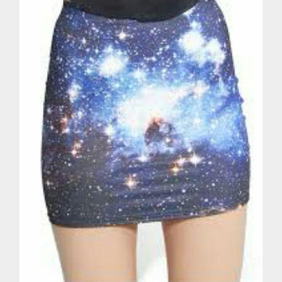 Blackmilk galaxy skirt In perfect condition Blackmilk Skirts