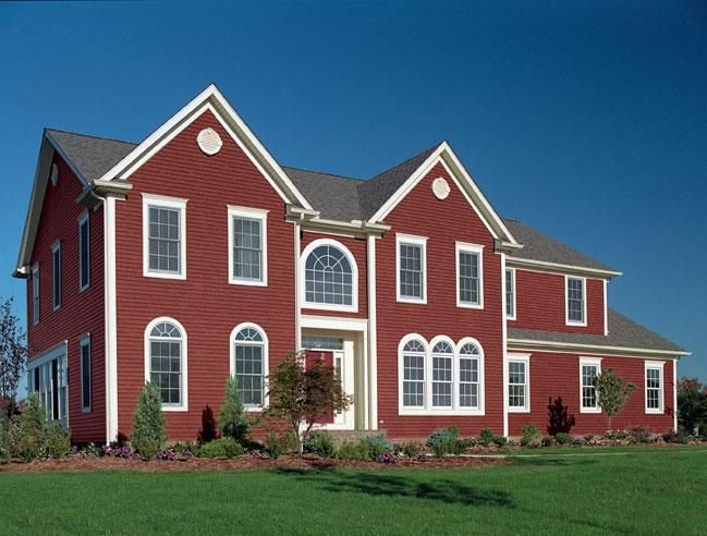 Norandex Great Barrier Premium Vinyl Siding In Firebrick