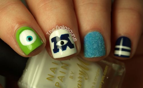 The Nailasaurus: Monsters University Nail Art