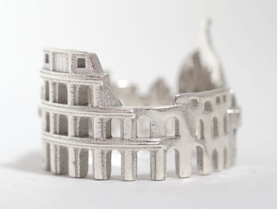 Rome Cityscape Skyline Statement Ring Size 5-13 door Shekhtwoman