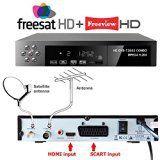 NEW FULL HD COMBO 1080p Freeview HD  FreeSat HD Satellite Receiver Tuner  RECORDER For Digital TV Set Top Box Digi Box Terrestrial SCART  HDMI Input FREE TO AIR RECEIVER(OVER 100 Freeview & Over 300 FreeSat Channels & 50-60 Digital Radio Stations . DVB-T2  DVB-S2 HD 1 YEAR WHATEVER HAPPENS REPLACEMENT WARRANTY (UK SELLER)